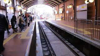 東急世田谷線  300系電車(デハ300形)308   三軒茶屋駅入線