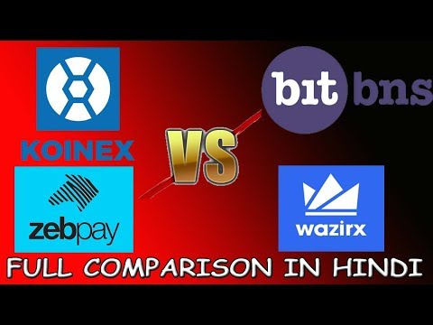 Best Cryptocurrency Exchange Of India | Comparison Of Bitbns Vs Zebpay Vs Koinex (Hindi)