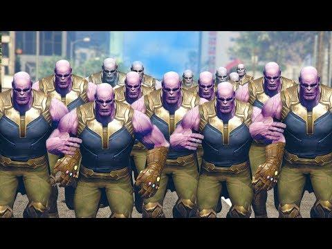 THANOS ARMY TAKES OVER CITY! | GTA 5 Mods thumbnail
