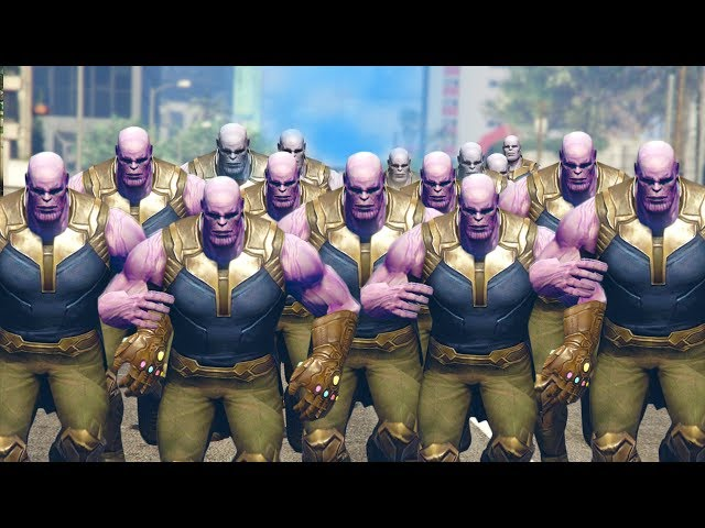 THANOS ARMY DESTROYS CITY! | GTA 5 Mods
