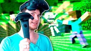 САМОУБИЙСТВО В VR!   Minecraft (HTC Vive VR)