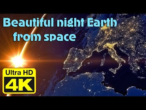 4k Video Ultra HD 60fps EARTH AT NIGHT SEEN FROM SPACE - test UHD