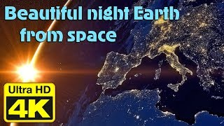 PLANET EARTH AT NIGHT SEEN FROM SPACE 4k Video Ultra HD 60fps test 2160p Astroromantik