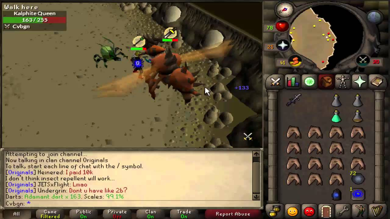 English In Italian: Old School RS (OSRS / 2007Scape ) Solo Kalphite Queen