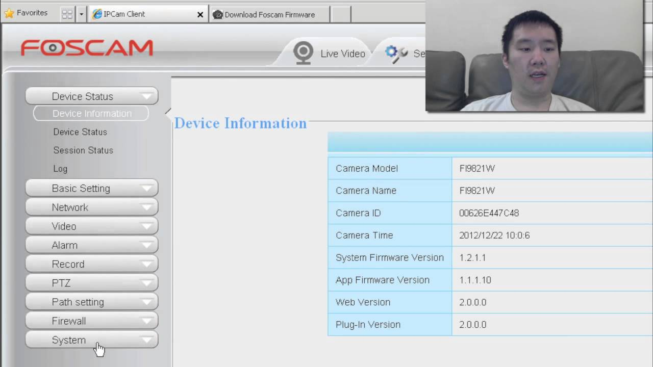 foscam 8910w firmware
