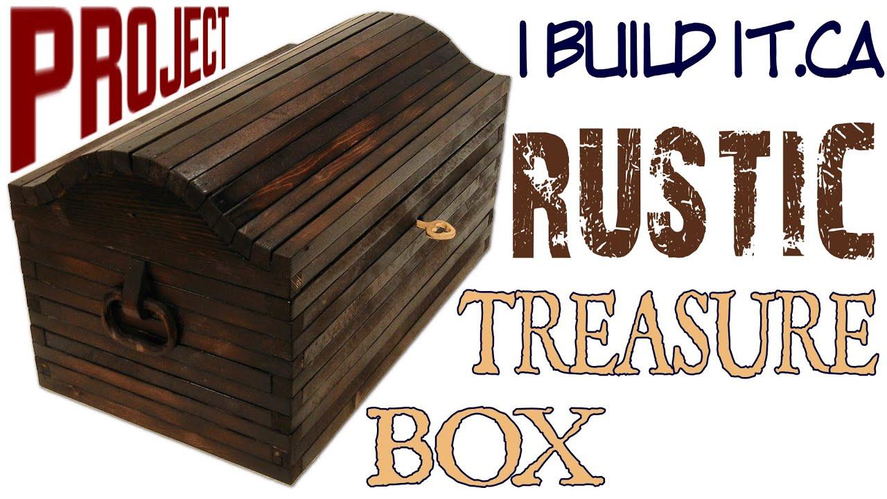 How To Make A Rustic Treasure Box - YouTube
