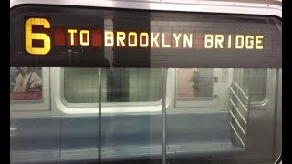 MTA NYC Subway: On Board R142A (6) Train From 86th Street to Brooklyn Bridge via City Hall Loop