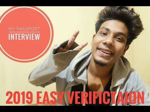 My Passport Interview : 2019 Easy Verification || ARIES FRIES