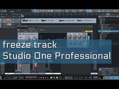 Como fazer Freeze Track com Studio One Professional