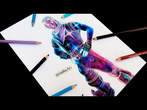 Como Dibujar La Skin Galaxy De Fortnite Fortnite Drawing