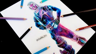 How to Draw FORTNITE's Skin Galaxy - Fortnite Drawing SKIN GALAXY Esteban Arts