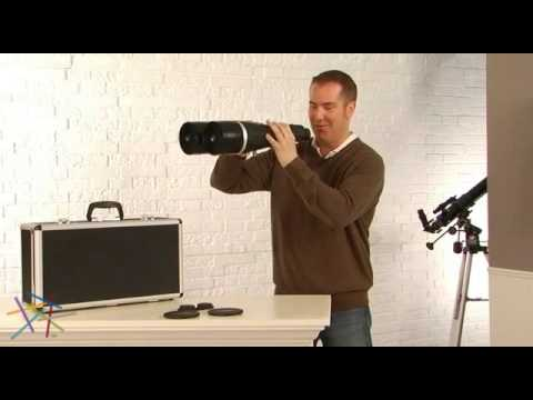 Zhumell Tachyon 25x100mm Astronomy Binoculars with Locking Aluminum Case - Product Review Video