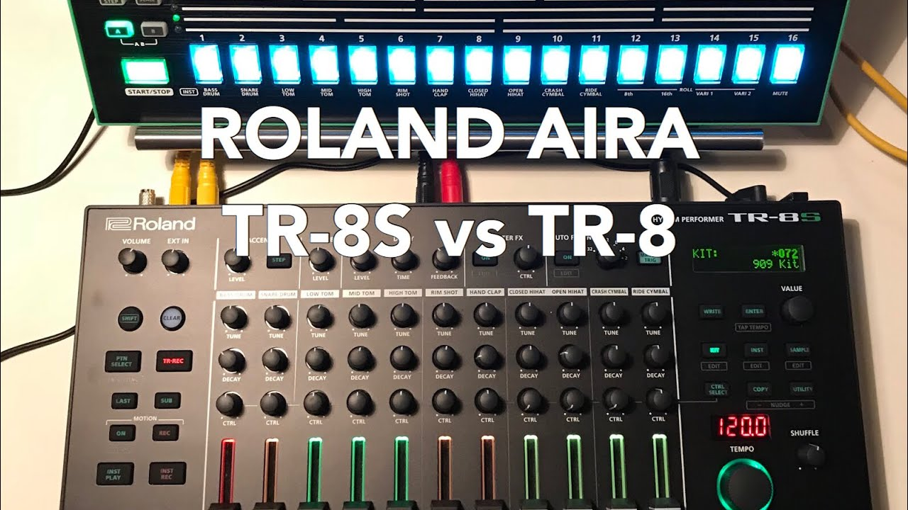 roland aira tr 8s vs tr 8 using the tr 808 and tr 909 sounds youtube. Black Bedroom Furniture Sets. Home Design Ideas