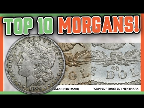TOP 10 MOST VALUABLE SILVER DOLLARS - MORGAN DOLLAR COINS WO