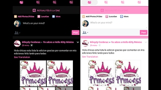 Hello Kitty facebook lite Android