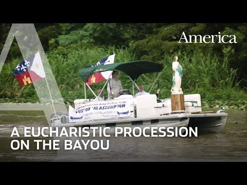 Cajun Eucharistic Boat Procession
