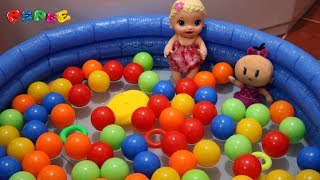 Pepee Bebe Ve Bebek Alive Top Havuzunda Oyun Oynuyor Pepee İzle Bebek Alive İzle