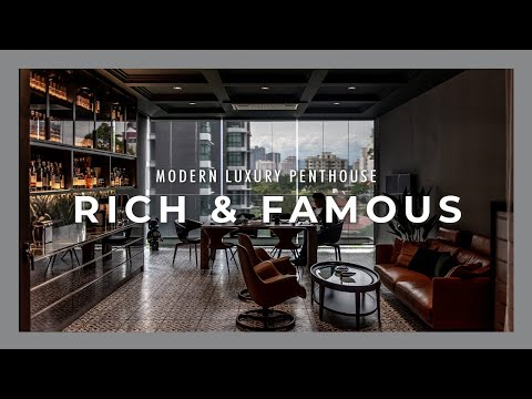 House of the Rich & Famous |Modern Luxury Penthouse |Top Exotic Marble & Italian Furniture|Mon Cheri