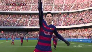 FIFA 16 Predicts FC Barcelona vs Atlético de Madrid Incredible Match Legendary difficulty