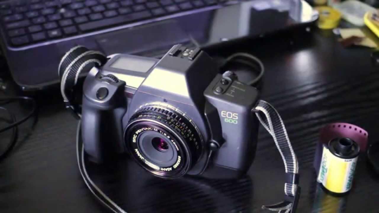 loading film into eos 600 slr camera youtube rh youtube com Canon EOS Rebel T6 Canon EOS 7D Parts