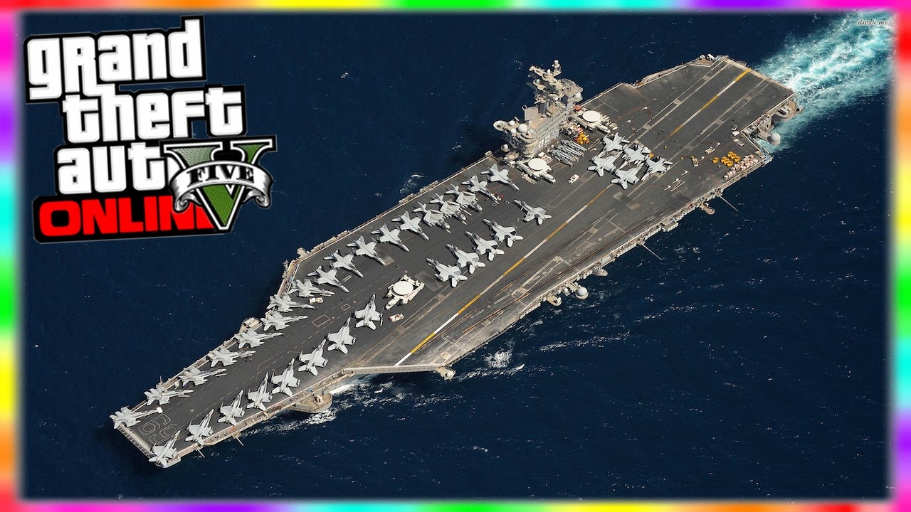 GTA Online Access Aircraft Carrier Heist Yacht In Freemode - Location of us aircraft carriers map