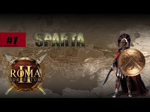 Rome Total War MOD Roma Surrectum 2 за Спарту #1 первая война!