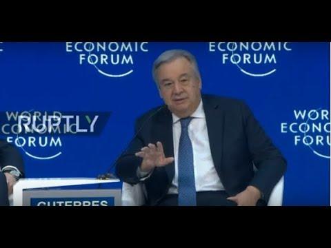 LIVE: World Economic Forum 2019 in Davos: António Guterres special address