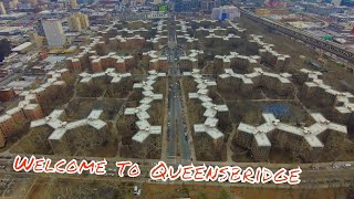 Queensbridge New York City from a drone