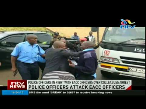 EACC officers injured  by Traffic Police Officers along Thika Super Highway