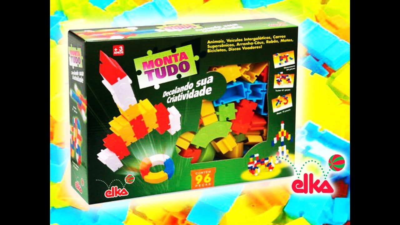 Brinquedo Monta Tudo Elka 96 Peças Pecinhas De Montar Youtube