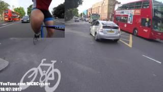 End of cycle lane - close pass time - #London - H4 VTN