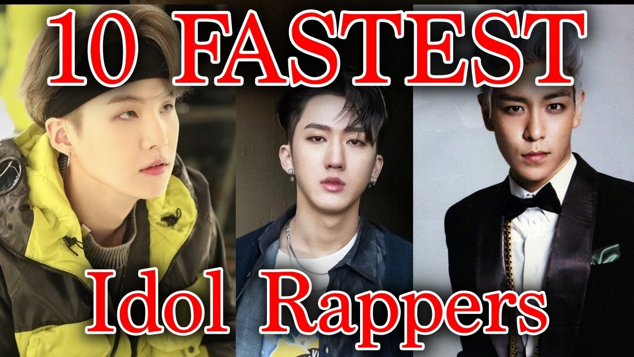 Official 10 Fastest Kpop Idol Rappers Youtube