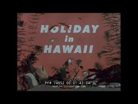 UNITED AIRLINES 1950s HAWAII TRAVELOGUE DC-7 MAINLINER 74852