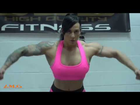 IFBB Muscle || star // GYM WORKOUT Competition female bodybuilding