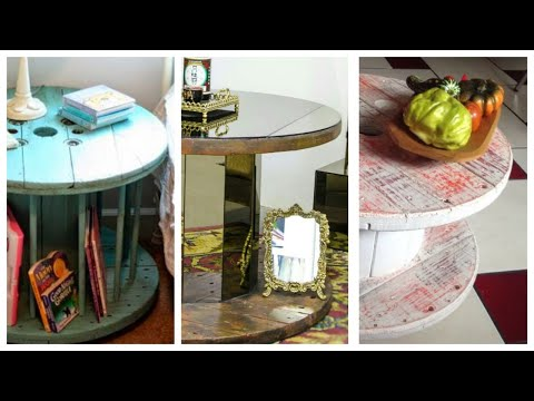 small-wooden-reel-or-spool-tables-ideas