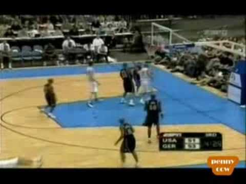 Allen Iverson 1st ever Buzzer-Beater Team USA vs Germany 2004 Pre-Olympics Game
