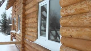 видео Дом из оцилиндрованного бревна  Этапы строительства