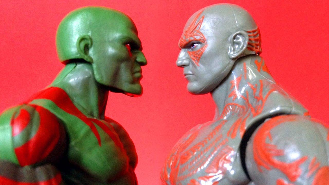 Drax The Destroyer Vs Venom: DRAX THE DESTROYER Comic Vs Movie Action Figure Comparison