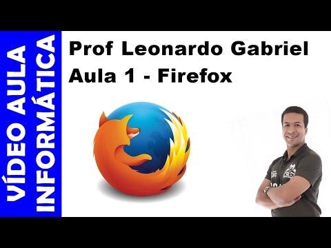 Vídeo aula - Informática -  Mozilla Firefox - Aula 1