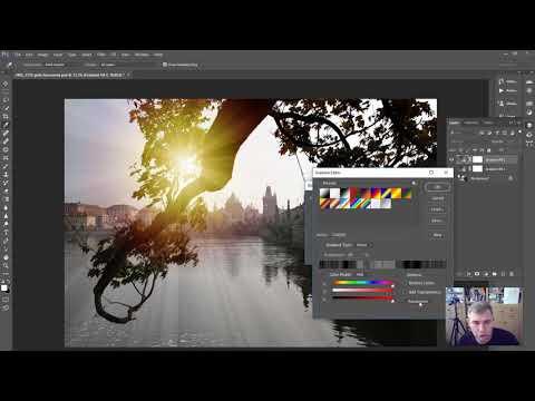 Photoshop: как добавить солнечные лучи на пейзажное фото