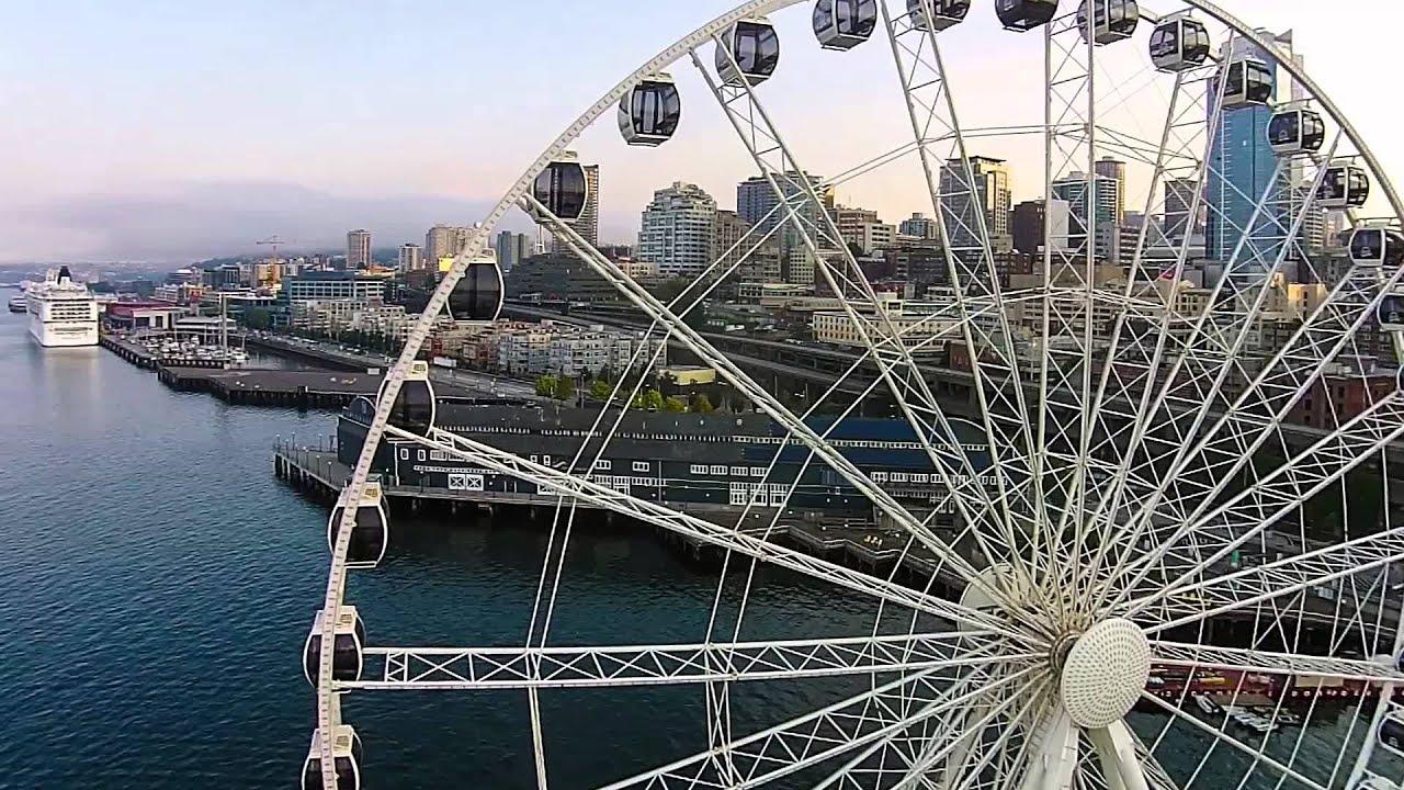 Seattle Ferris Wheel Flyby