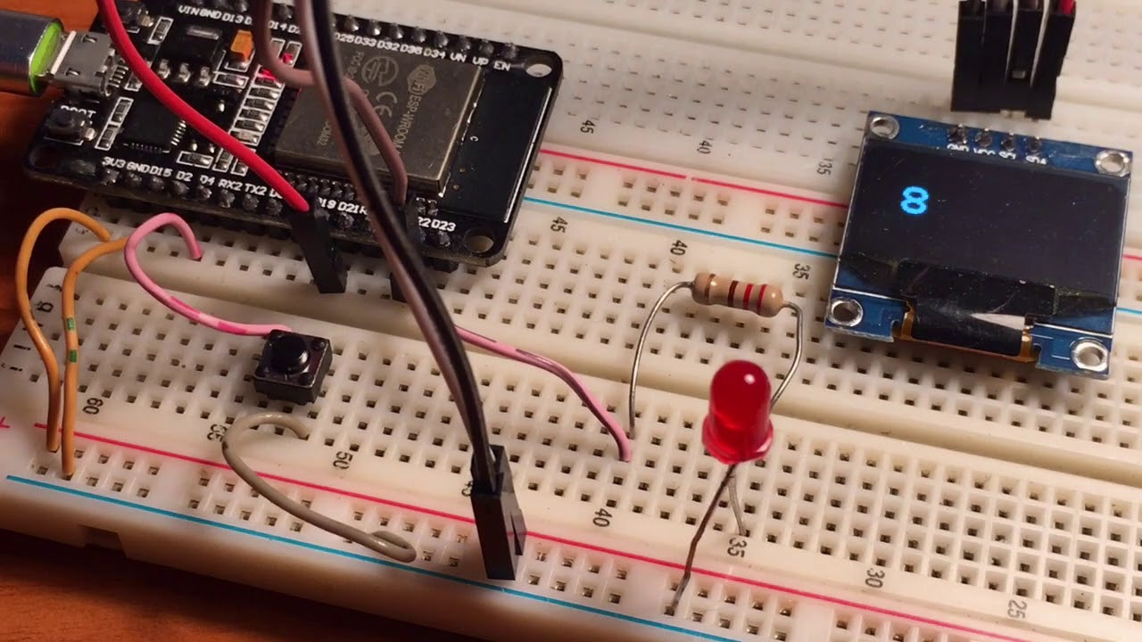 ESP32 Input button count with debouncing software
