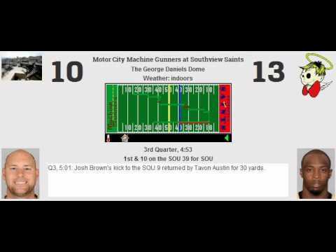 Week 11: Motor City Machine Gunners (7-3) @ Southview Saints (5-5)