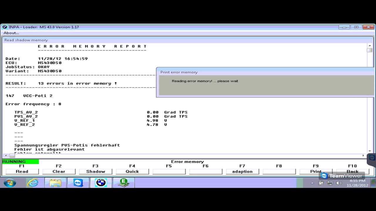 Bmw E39 520i Diagnosis Amp Adaption Via Inpa Youtube
