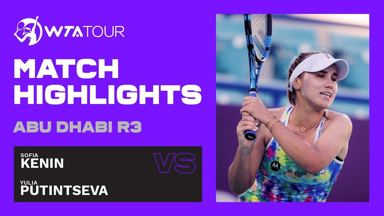 Sofia Kenin vs. Yulia Putintseva | 2021 Abu Dhabi Third Round | WTA Highlights