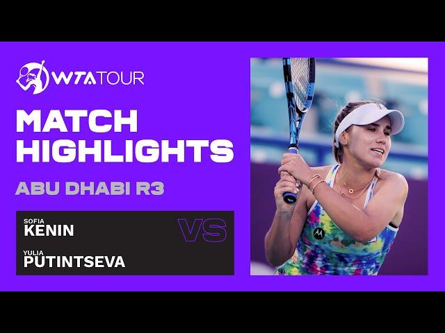 Sofia Kenin vs. Yulia Putintseva   2021 Abu Dhabi Third Round   WTA Highlights