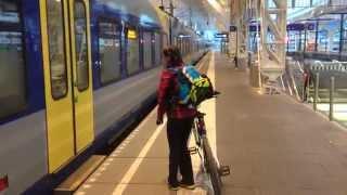 55. Мюнхен-Зальцбург: Посадка на поезд до Мюнхена с велосипедами