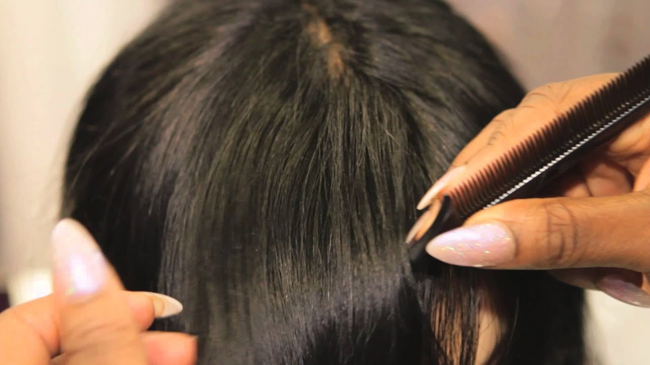 How To Hide The Tracks From Clip On Bangs Clip Ins Hair