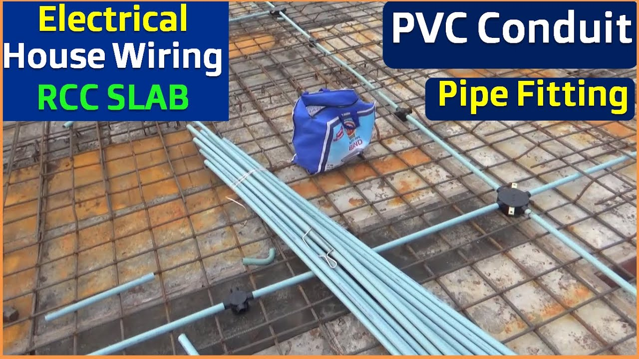 Pvc Conduit Pipe Fitting Work In Rcc Slab Electrical Conduit Piping In Rcc Slabs Construction Work Youtube