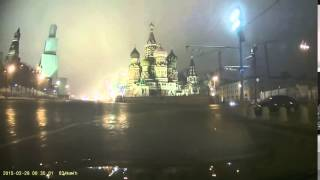 dashcam footage minutes after nemtsov was killed driving same route as cleaning car